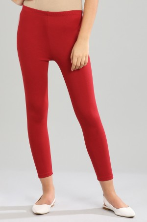 Red Yarn-dyed Tights