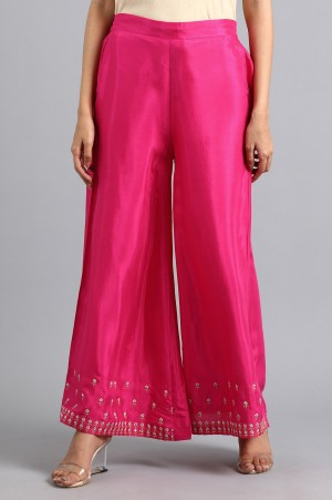 Pink Embroidered Pants