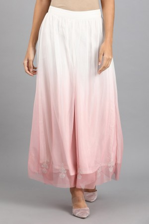 White Embroidered Culottes