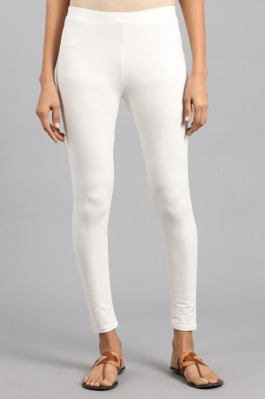 Off-White Solid Tights