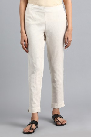 Off-White Solid Trousers