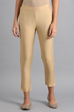 Gold Solid Trousers