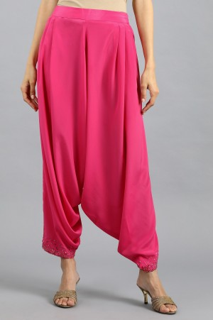 Pink Embroidered Trousers