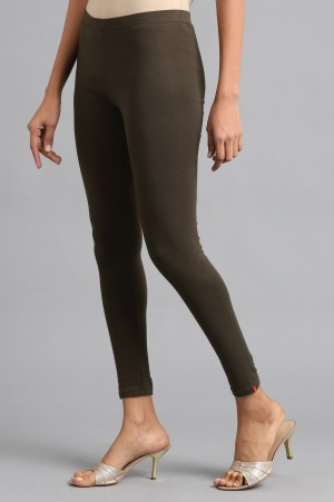 Brown Ankle Length Tights