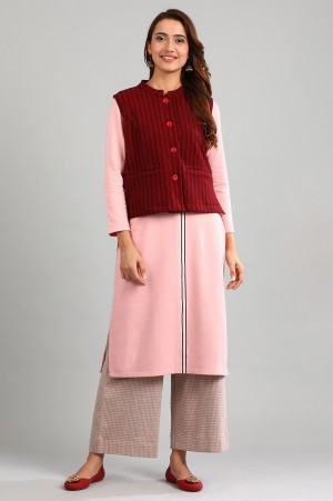 Red Band Collar Winter Jacket