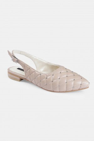 Blush Pointed Toe Quilted Flat - ZBetty