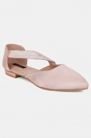 Blush Pointed Toe Embroidered Flat - ZBlair