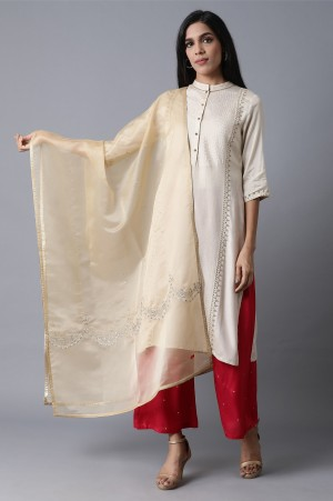 Gold Embroidered Drape