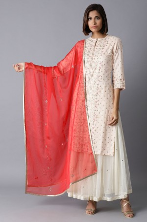 Persian Red Embroidered Drape