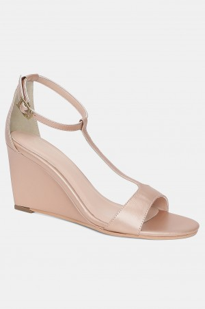 Rose Gold Almond Toe Solid Wedge-Wbeverly