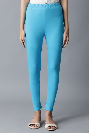 Blue Solid Tights