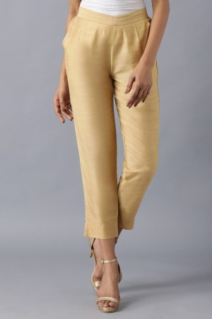 Brown Roll-Up Hem Trousers