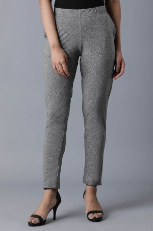 Grey Ankle Length Palazzo