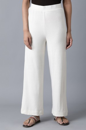 White Ankle Length Palazzo