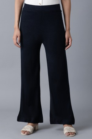 Navy Ankle Length Palazzo