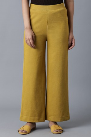 Yellow Ankle Length Palazzo