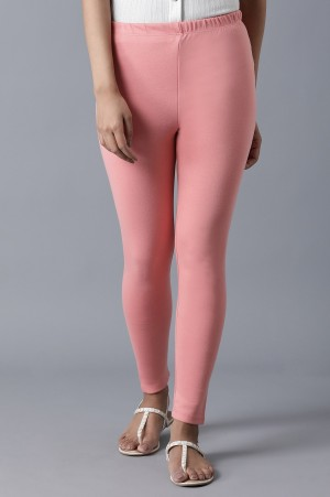 Pink Ankle Length Tights