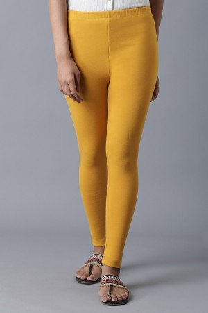 Yellow Ankle Length Tights