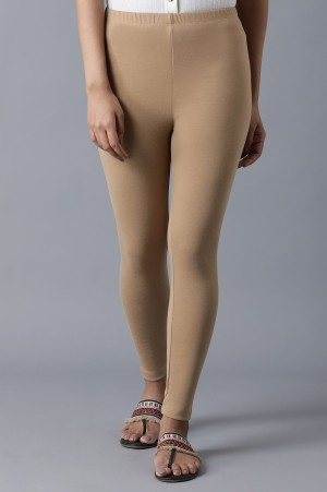 Gold Ankle Length Tights