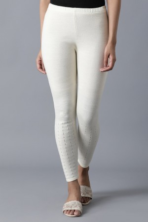 Off-White Ankle Length Tights