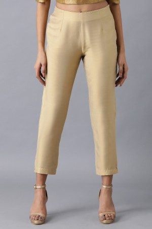 Light Gold Solid Pants
