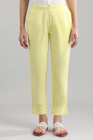 Yellow Solid Trousers