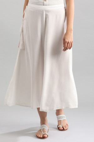 White Solid Culottes