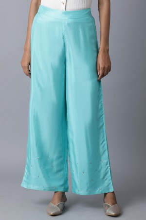 Turquoise Parallel Pants
