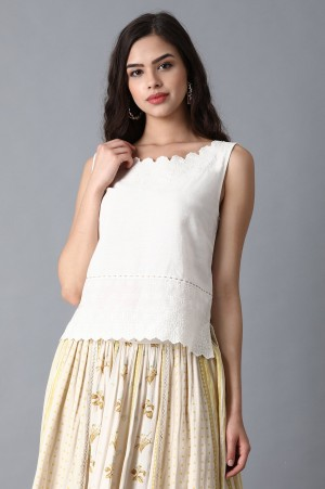 White Sicily Embroidered Top