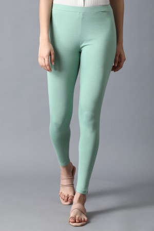 Green Solid Tights