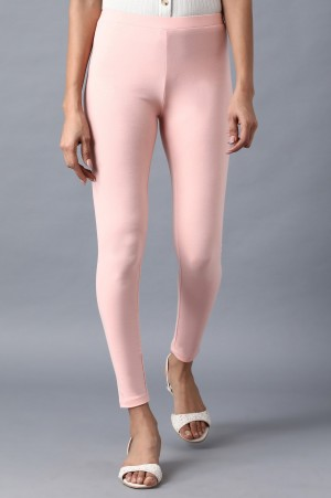 Pink Solid Tights