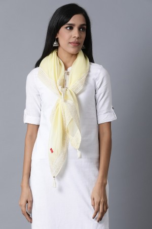 Pale Yellow Solid Scarf