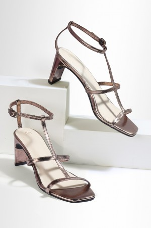 Copper Square Toe Solid Western Heels-Wwilly