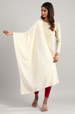 White Knitted Shawl