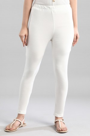 White Solid Tights