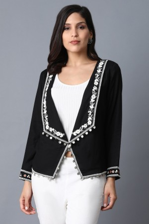 Black Chunky Embroidered Jacket