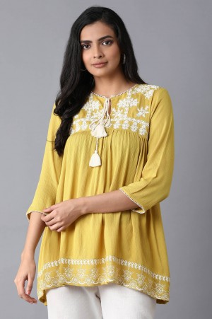 Yellow Gathered Top