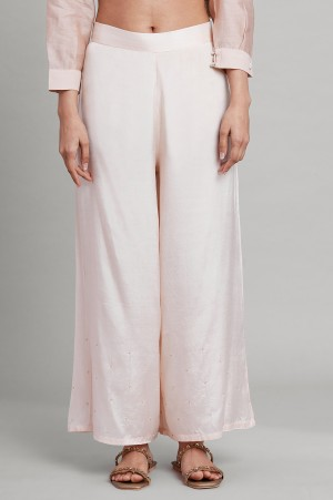 Light Pink Solid Parallel Pants